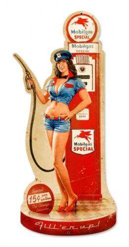 Gas Pump Girl Greg Hildebrandt Pin Up Metal Sign