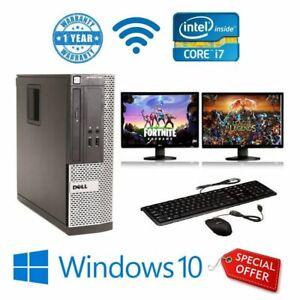 PC-Gamer-Ultra-Rapide-Intel-Core-i7-8-Go-1-To-Windows-10-GT710-Double-Ecran-Game