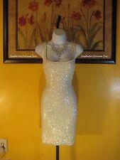 NWT  Aden B. White Sequin Dress Size XL