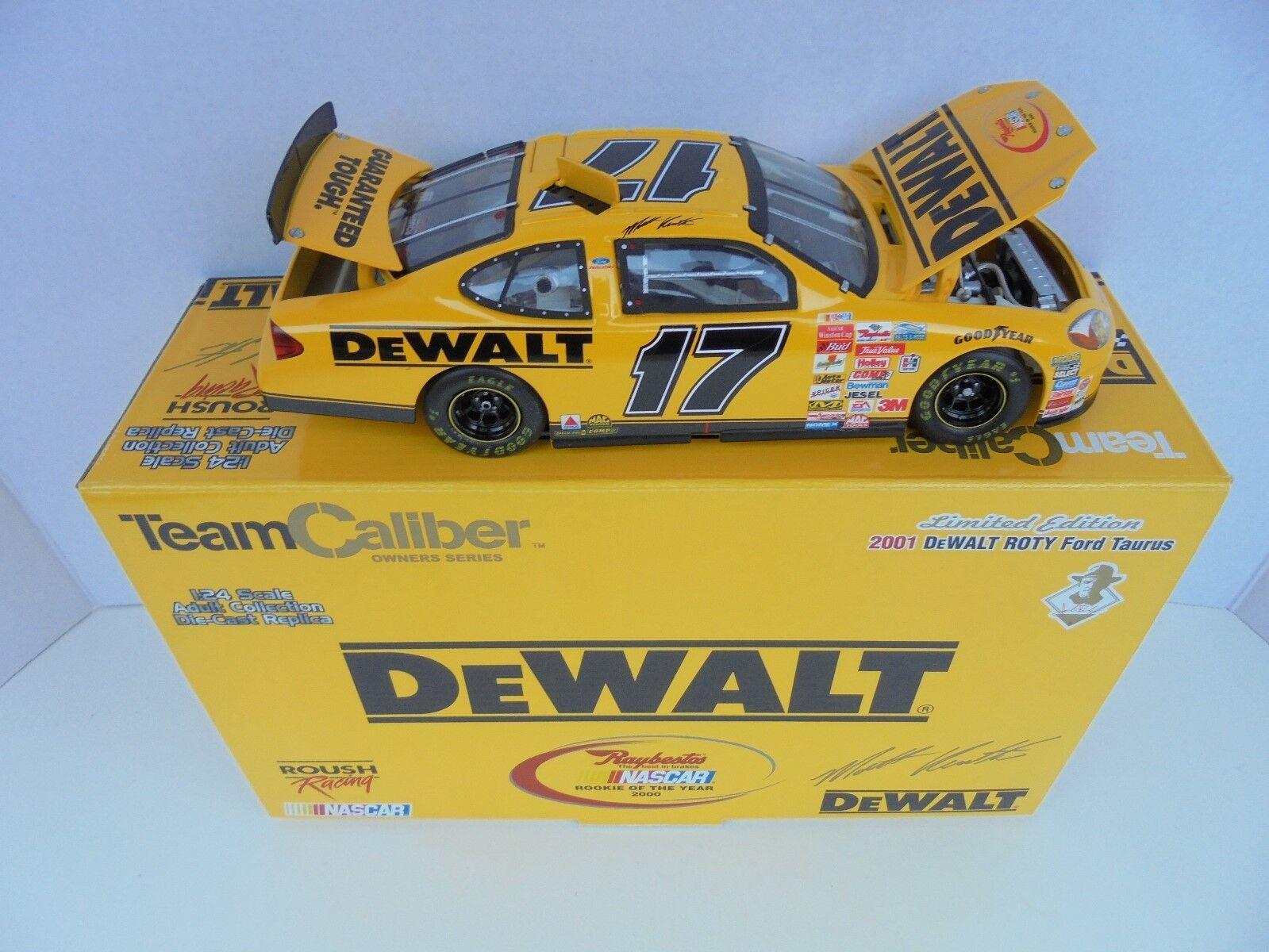 Matt Kenseth 2001 DEWALT  17 Ford Taurus Terminaison 2000 privée vainqueur NASCAR Diecast mm