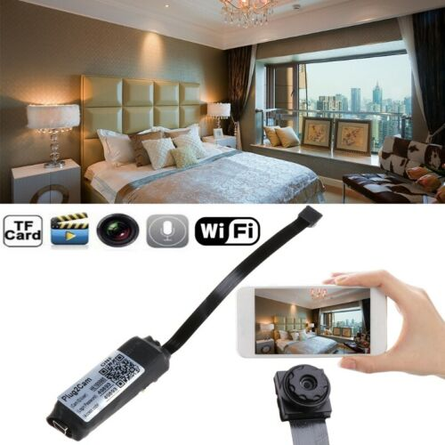 1080P Wireless pinhole Spy Camera HD Mini Micro DVR WIFI Security Cam Recording