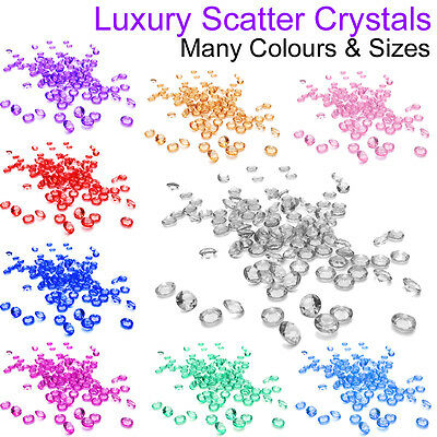 PACK TABLE SCATTER CRYSTALS CHOICE OF COLOURS IDEAL WEDDING BIRTHDAY HEN PARTY Party Tableware & Serveware