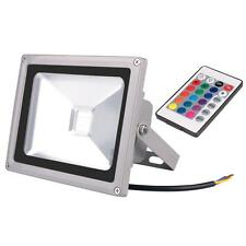 20W LED Color RGB Light Remote Control Color Changing Outdoor Garden Flood Light