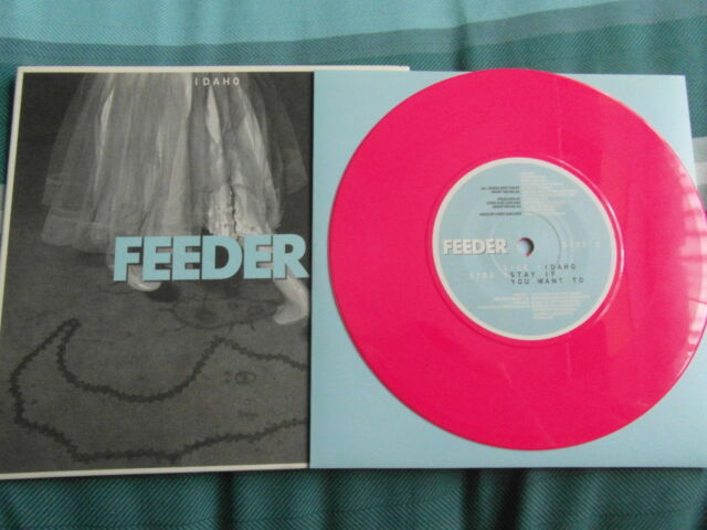 FEEDER IDAHO NEW 7 INCH SINGLE SHOCKING PINK VINYL RECORD + EXCLUSIVE TRACK