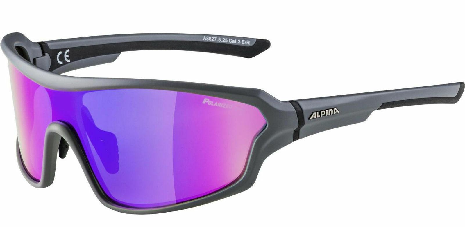 Alpina sunglasses sports  cycling polarized disk lyron shield p grey  online cheap