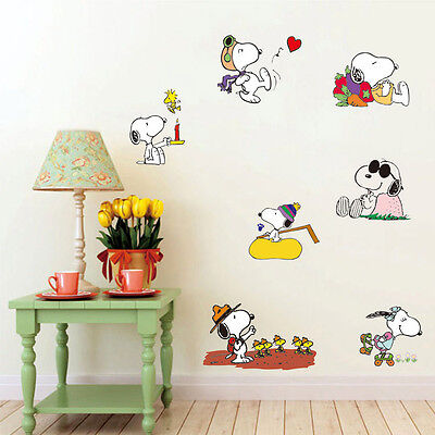 Removable Children bedroom Wall Stickers Snoopy Peanuts dogs Figure  Stickers 2# | eBay