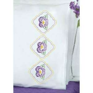 Jack Dempsey Stamped Pillowcases W//White Perle Edge 2//Pkg-Love You To The Moon