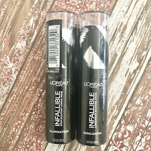 Loreal Infallible Longwear Shaping Stick Highlighter 41 Slay In Rose Lot of 2