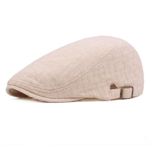 Hommes Femmes bérets Bonnet Classic Cap Lin Coton Outdoor Voyage Réglable Chapeaux