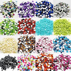 1000-Nail-Art-Strass-Perline-Di-Cristallo-1-5mm-Acrilico-A-fondo-piatto-Diamante