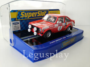Slot-SCX-Scalextric-Superslot-H3483-Ford-Escort-MK2-Rally-Winner-1975