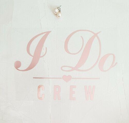 wedding iron on crew tshirt transfer rose gold i do crew hen party