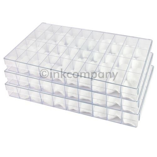 3 x 40er Sorting Box Sorting Boxes Sortiment Boxes + Cotton Pads Transparent New
