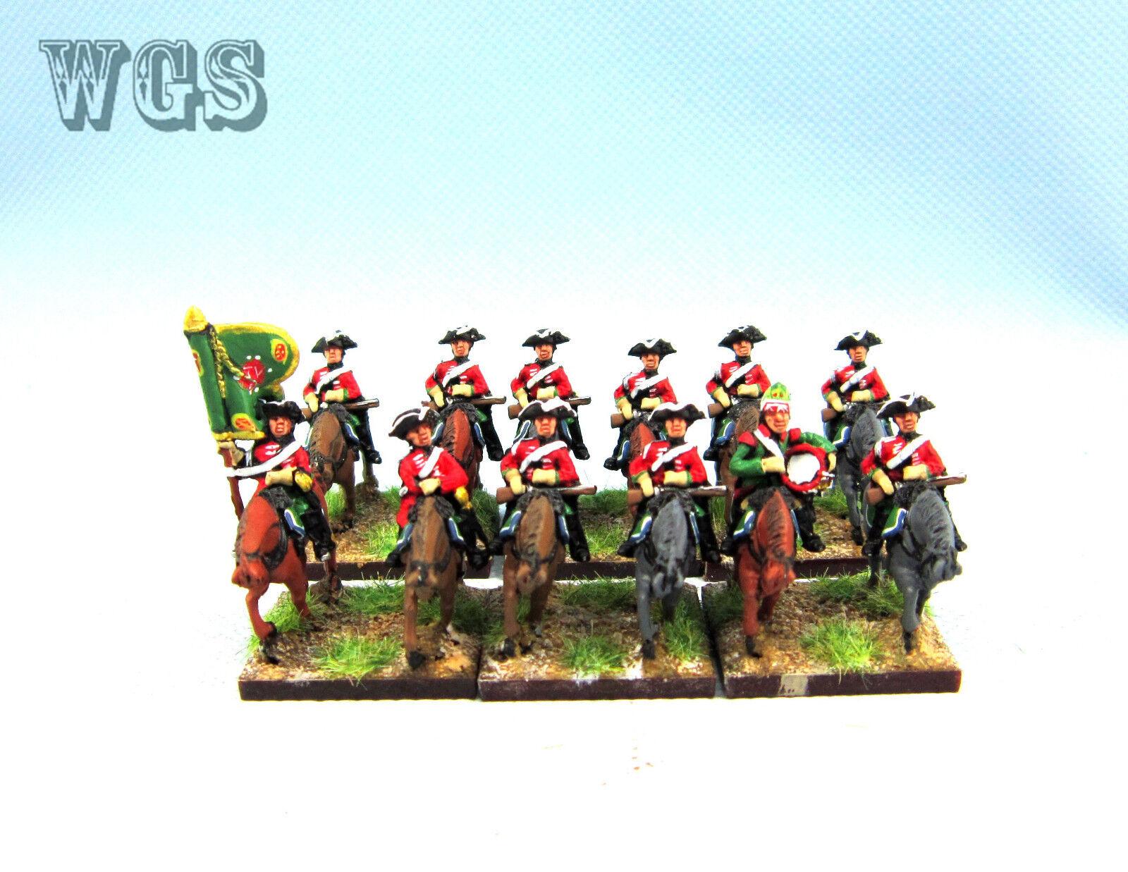 15mm Syw Seven Years War un Pintado Dragones británica 4th (12 figuras) BB4