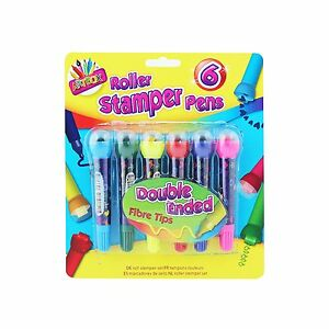 Tallon - Artbox Double Ended Roller Stamper Pens Pack of 6