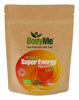BodyMe Organic Super Energy Mix | 50 g Powder | Soil Association Certified