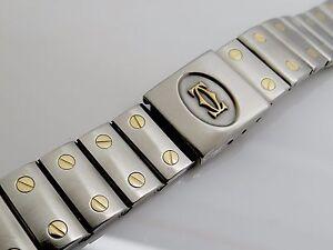 8da94394fb0 A10- CARTIER DE SANTOS GALBEE St. Gold Armband für Herren Uhr ...