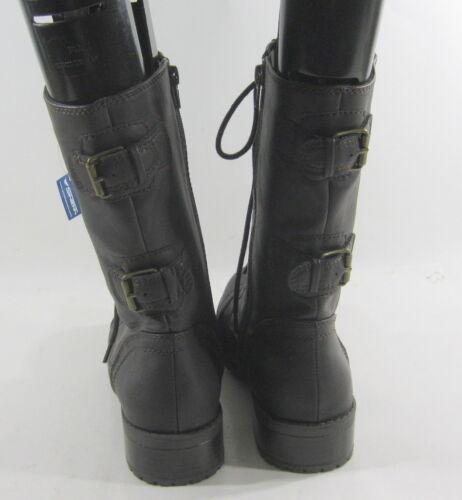 Scuro Caviglia Militare Sexy Resistente Donna Stivali Marrone Nuovo Pizzo Da zWwxBvqEa7