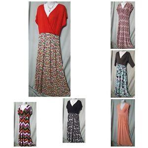 Long-Maxi-Dress-B3G1-FREE-Sleeveless-Long-Sleeve-Black-Blue-Red-White-Sz-1X