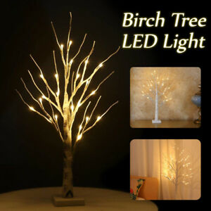 2pcs Easter Tree With Lights For Decorations Hanging Easter Eggs
