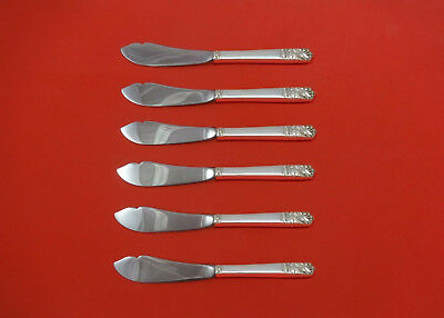"""Other Antique Furniture Smart Mansion House By Oneida Sterling Silver Trout Knife Set 6pc Hhws Custom 7 1/2"""" Spare No Cost At Any Cost"""