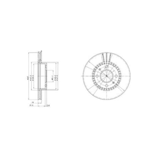 Original Delphi Delantero Discos De Freno Ventilados Set Par-BG3134