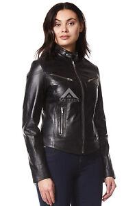 Leather Biker Ladies Sr Speed Nero Motorcycle Style Jacket 01 Napa Cool Owxqp5Z
