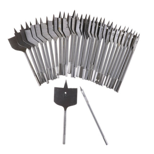 Machine Flat Spade Wood Drill Bit Set Hole Cutter Cutting Borer 6mm to 55 D W0