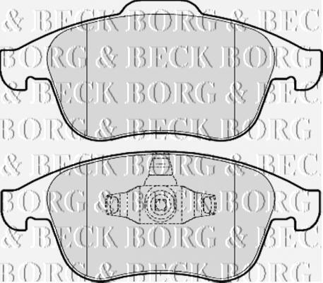 FRONT  BRAKE PADS FOR RENAULT GENUINE OE BORG /& BECK  BBP2057