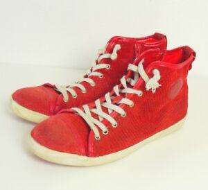 4e6fbbec968b Das Bild wird geladen MACA-KITZBUHL-Sneaker-High-Top-Rot-Gr-EUR-