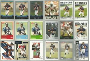 Tatum-Bell-Denver-Broncos-Oklahoma-State-18-card-2004-RC-lot-all-different