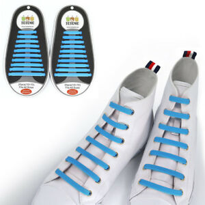 TOTOMO Skyblue No-Tie Elastic Shoelaces