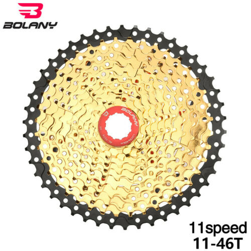BOLANY Gold 11 Speed 11-46T Bicycle Freewheel MTB Mountain Bike Cassette Cogs