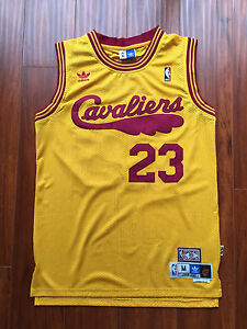 186901791 Image is loading NBA-Cleveland-Cavaliers-LeBron-James -Yellow-Throwback-Classic-