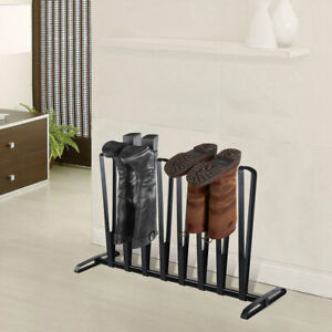 4 Pair Boot Rack Shoes Holder Shelf Organizer Storage Stand Easy to Assemble