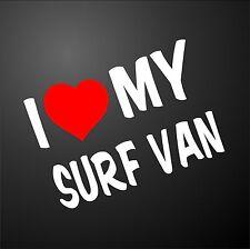 Me encanta mi Surf Van VW T4 T5 Camper Ventana Parachoques Gráfico Pegatina llantas de aleación