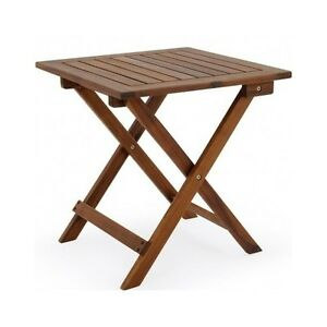 Image Is Loading Wooden Folding Table Small Low Coffee Side Picnic