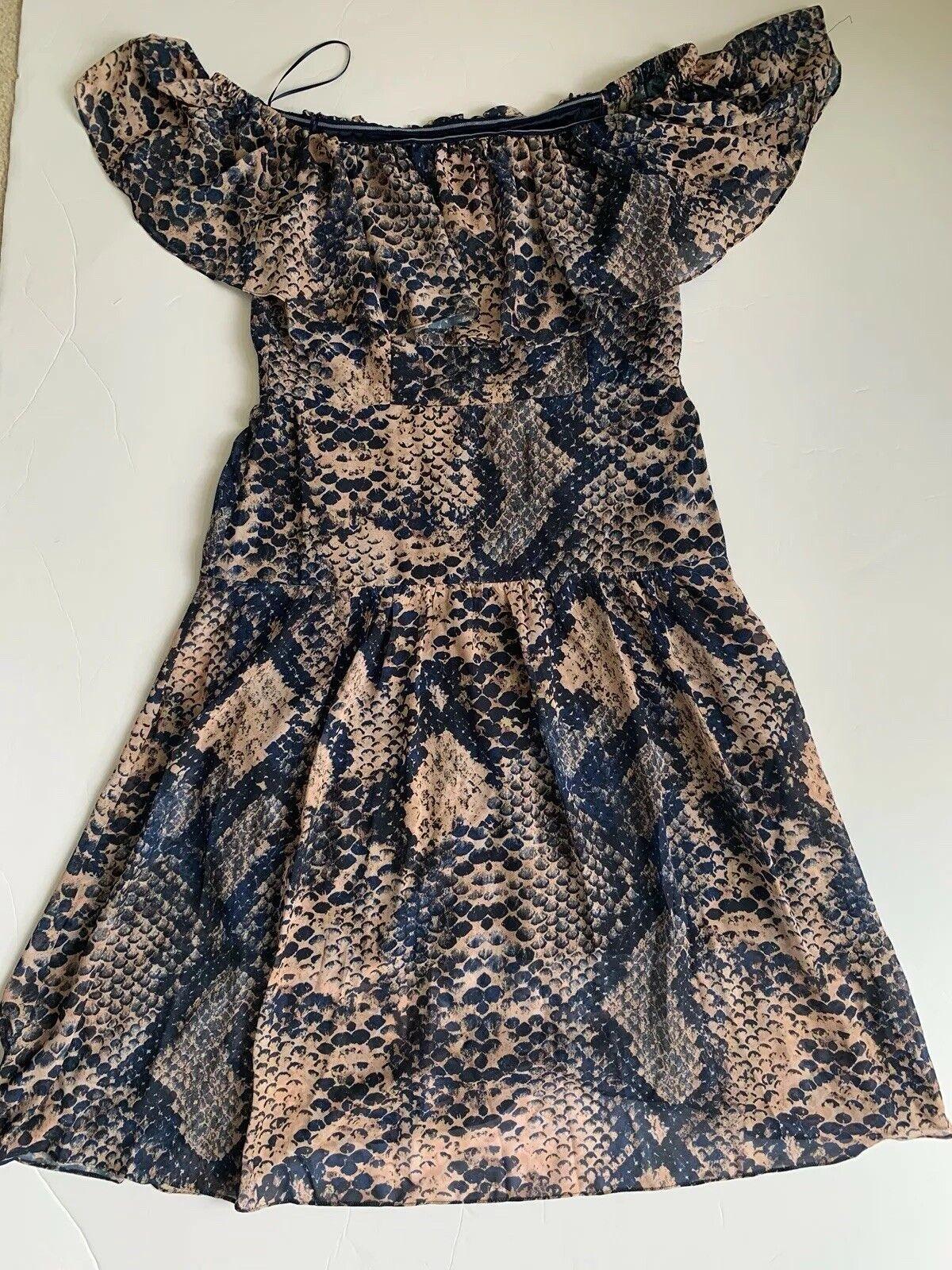 Cooper Street  Woherren Größe 10 Floral Cold Shoulder Gown Dress