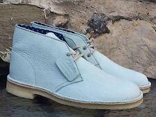 Clarks Originals Desert Boot UK 8 NUOVO CON SCATOLA VERDE PALLIDO CUOIO Wallabees