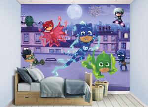 Pj Masks Walltastic Wallpaper Mural For Kids Bedrooms 5060107045194