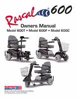 Owner's Manual - Rascal Scooter 600