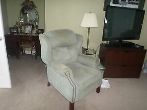 Awesome Details About Two Matching Recliner Chairs In Soft Teal Color Machost Co Dining Chair Design Ideas Machostcouk