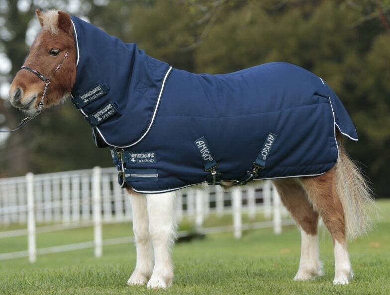Horseware Amigo PETITE Miniature INSULATOR STABLE Rug Medium 200g Navy 2'9 -4'0