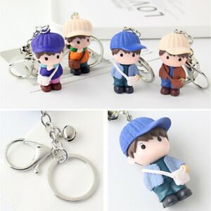 3pcs-Cartoon-Doll-Keychain-Creative-Metal-Keyring-Cute-Doll-Pendant-Key-Chain