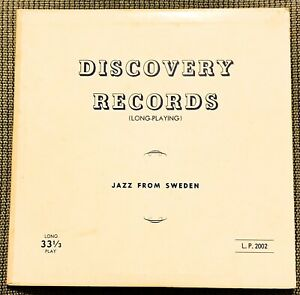 """33 LP 10"""" — Jazz From Sweden - 1953 Discovery DL 2002"""