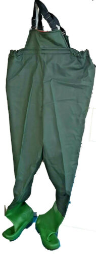 PVC Fishing Chest Waders Waterproof Booted Pants Rafting Wading Hunting Trousers