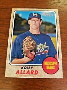 KOLBY-ALLARD-2017-TOPPS-HERITAGE-CARD-189-ATLANTA-MISSISSIPPI-MINOR-LEAGUE