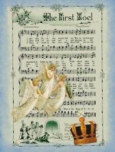 Silent Night Holiday Sign Sheet Music Religious Christmas Metal Sign