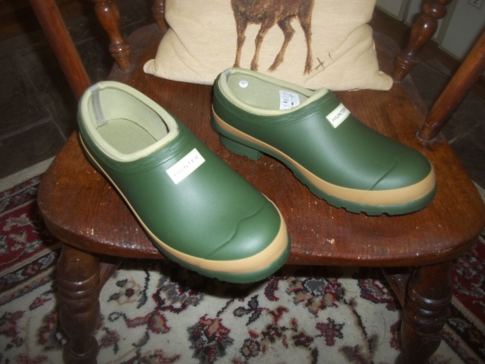 HUNTER GARDENER WELLIES WELLINGTONS IN HALIFAX GARDENER HUNTER CLOG SIZE 6 GREEN fbd5f0