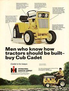 1970 International Harvester Ih Ad Club Cadet Tractor